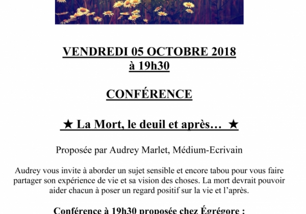 ATELIERS ET CONFERENCES OCTOBRE 2018